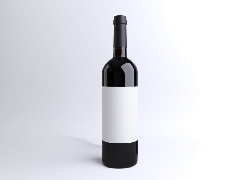 мокап бутылки вина. wine bottle mockup
