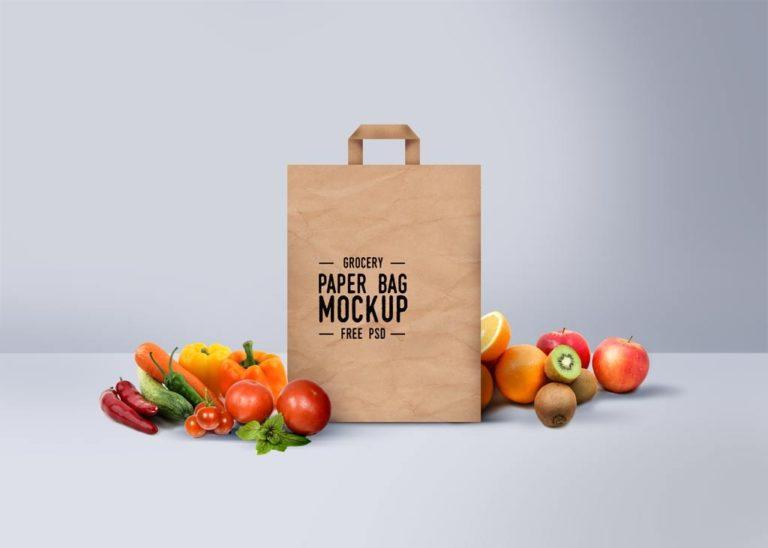 мокап бумажного пакета. paper bag mockup
