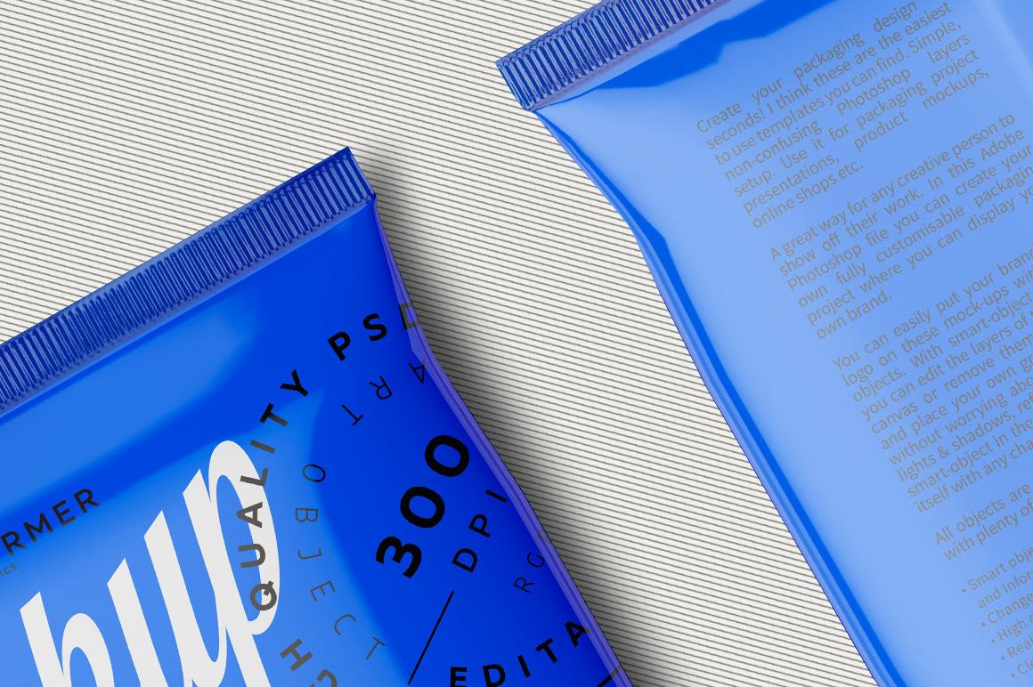Мокап упаковки чипсов. chip or snacks-bag mockup