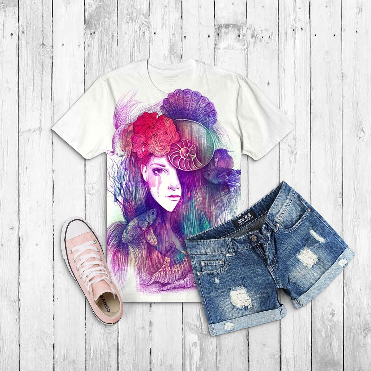 мокап женской футболки. t-shirt hmockup