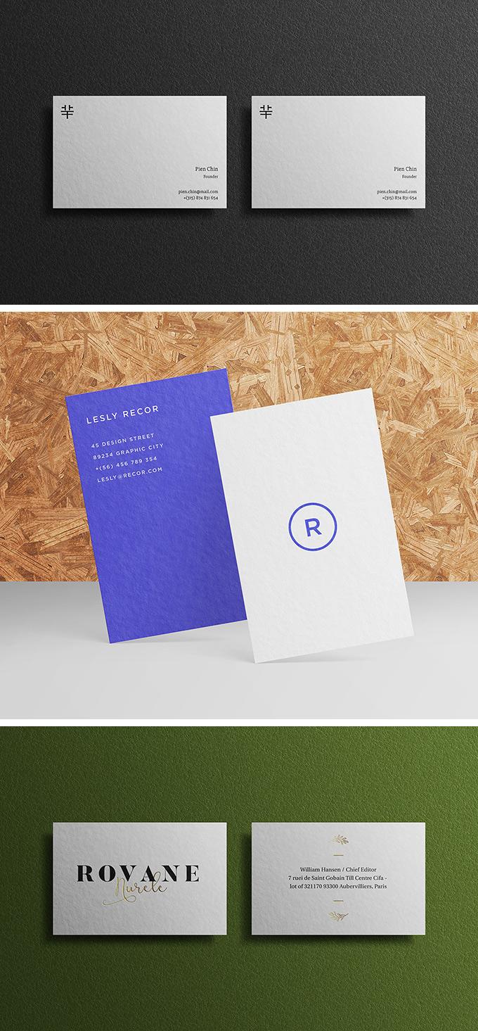 Мокап вертикальной визитки и мокап горизонтальной визитки. business cards mockups