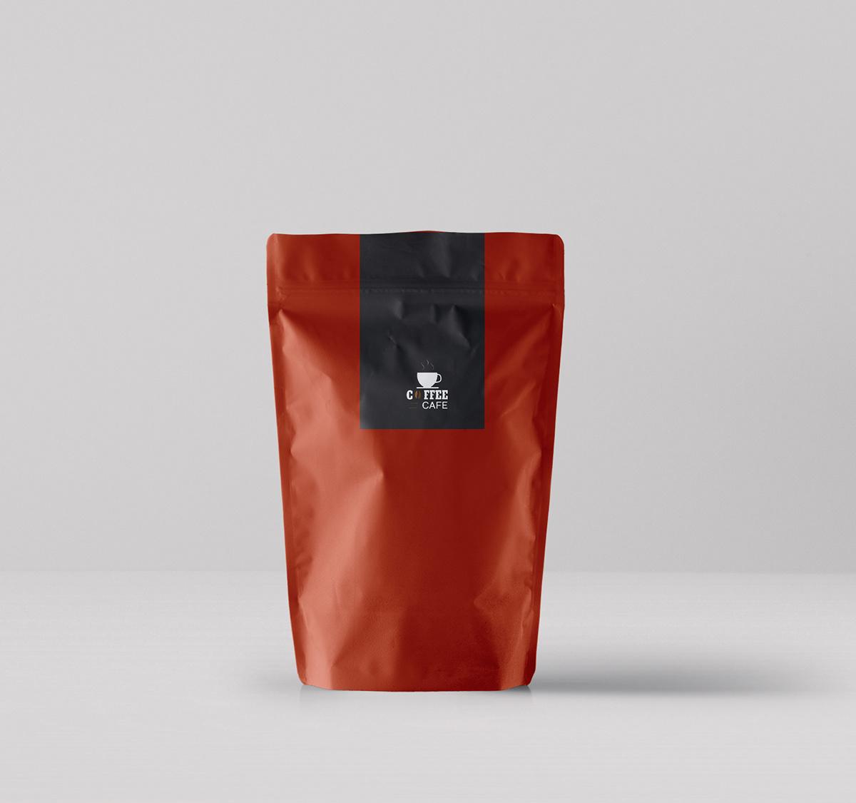 Мокап пачки кофе. coffee packaging mockup