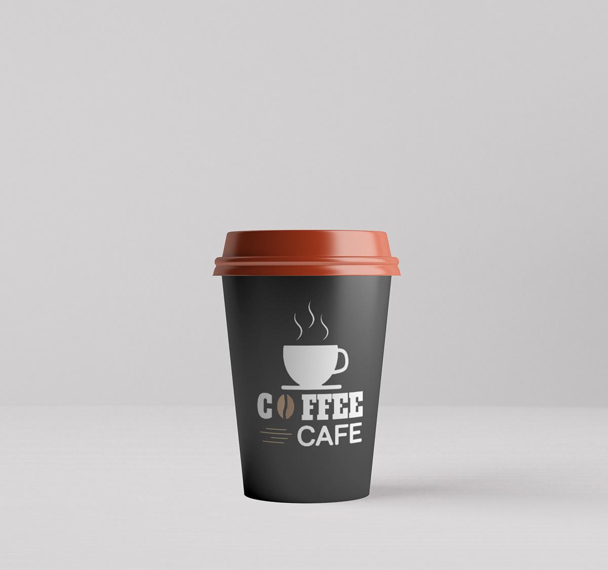 Мокап стакана кофе. cup mockup