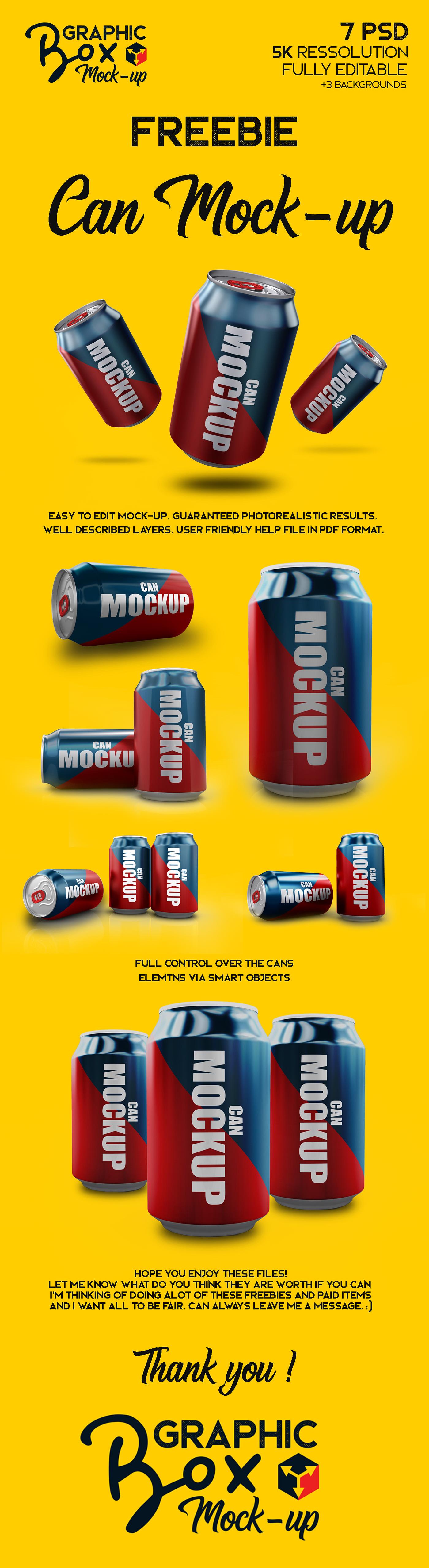 Мокап алюминиевых банок. soda cans mockup