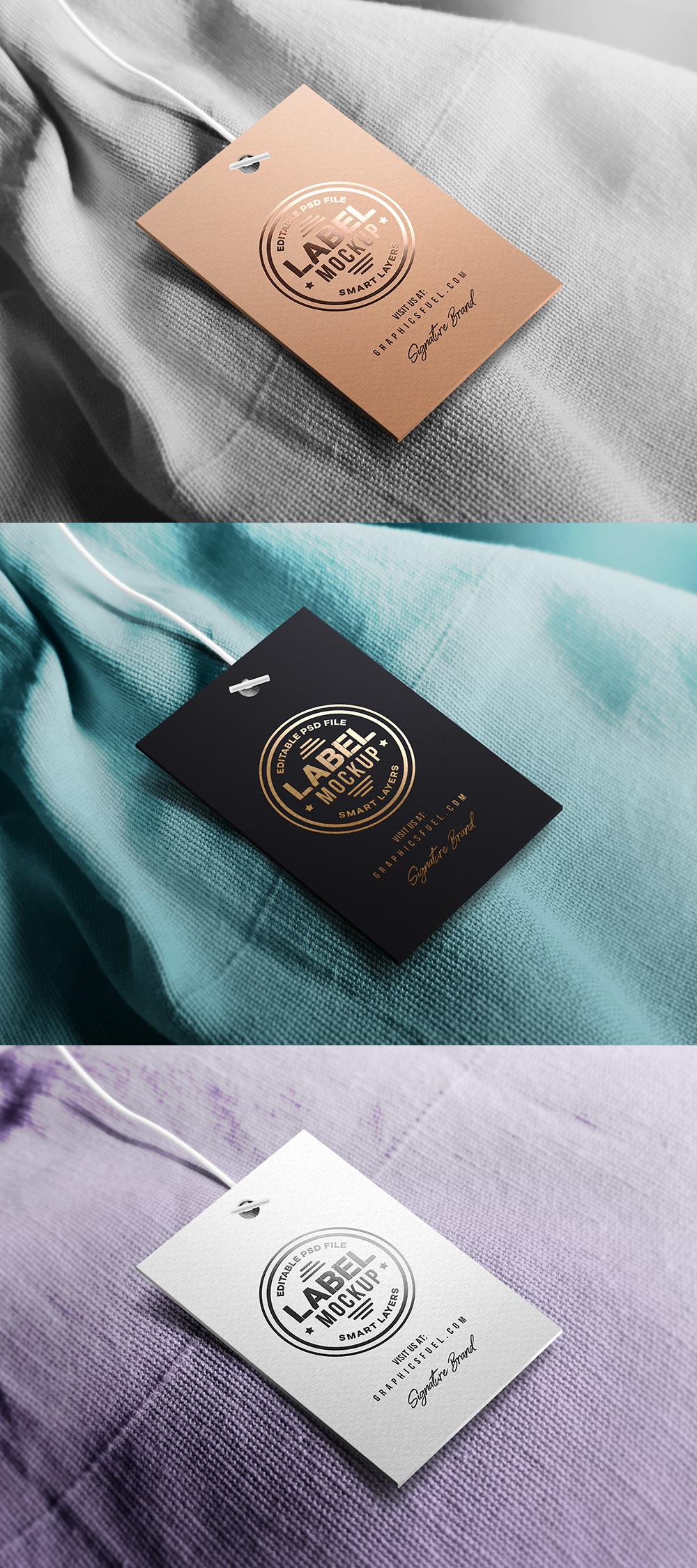 Мокап картонной бирки. clothing tag mockup