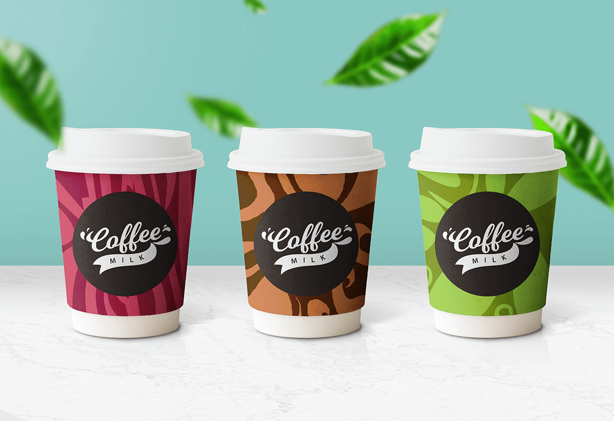 Мокап стаканов для кофе. paper coffee cup mockup