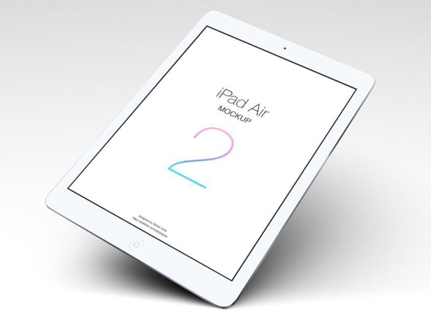Мокап парящего iPad Air 2