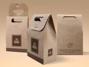 Мокап упаковки печенья. cookie kraft paper bag mockup