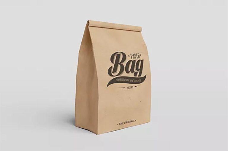 Мокап пакета для выпечки. paper bag mockups