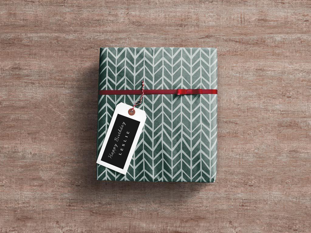 Мокап подарочной коробки. gift box