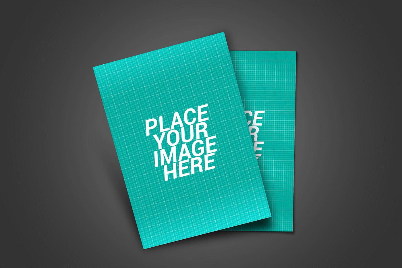 PSD макет флаеров. Flyer design presentation mockup bundle.
