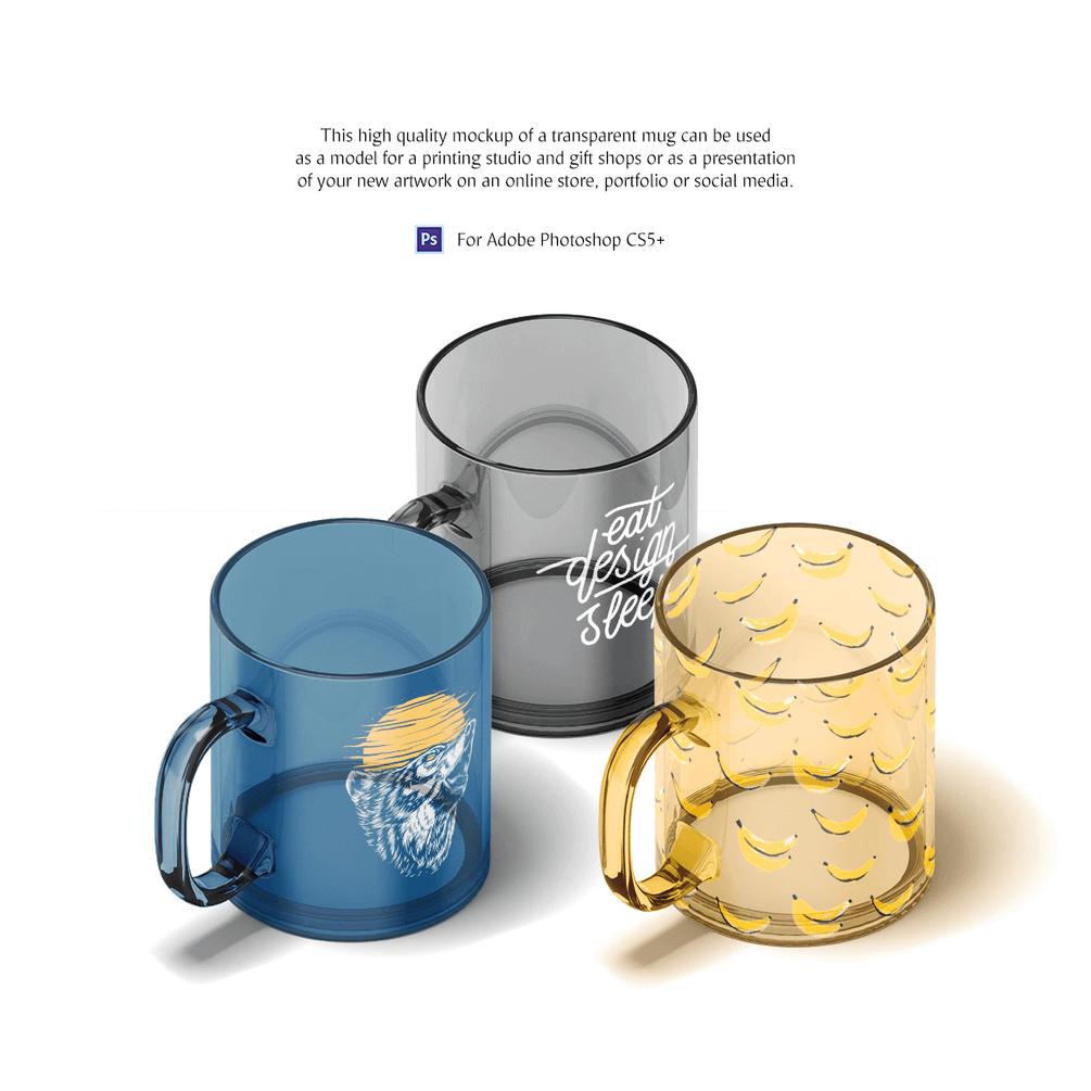 PSD мокап кружек. animated glass mug mockup