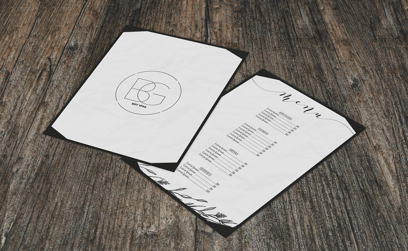 Мокап меню, перспективный вид. menu card mockups