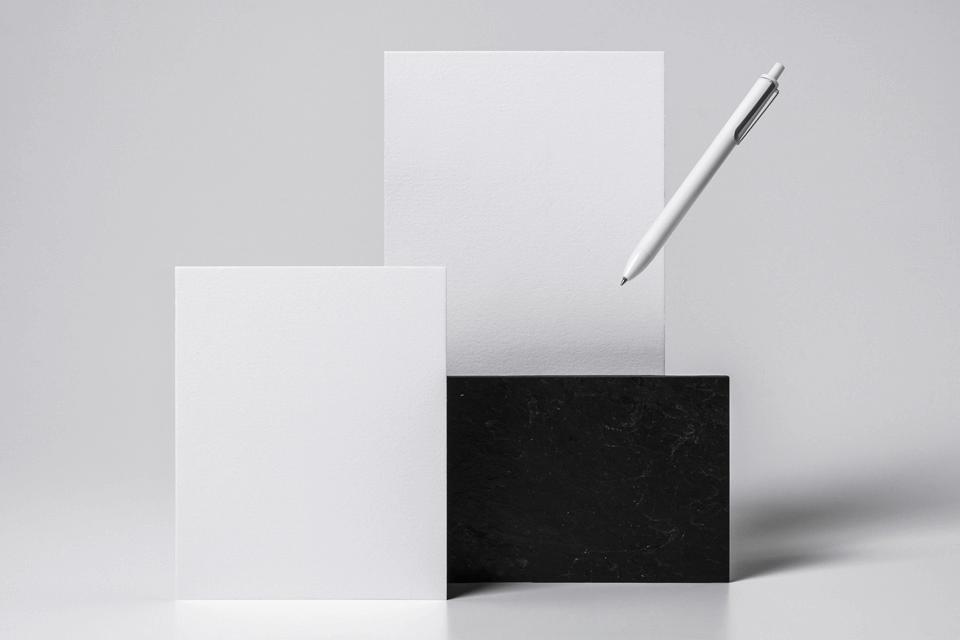 Макет бланков. simple branding paper mockup