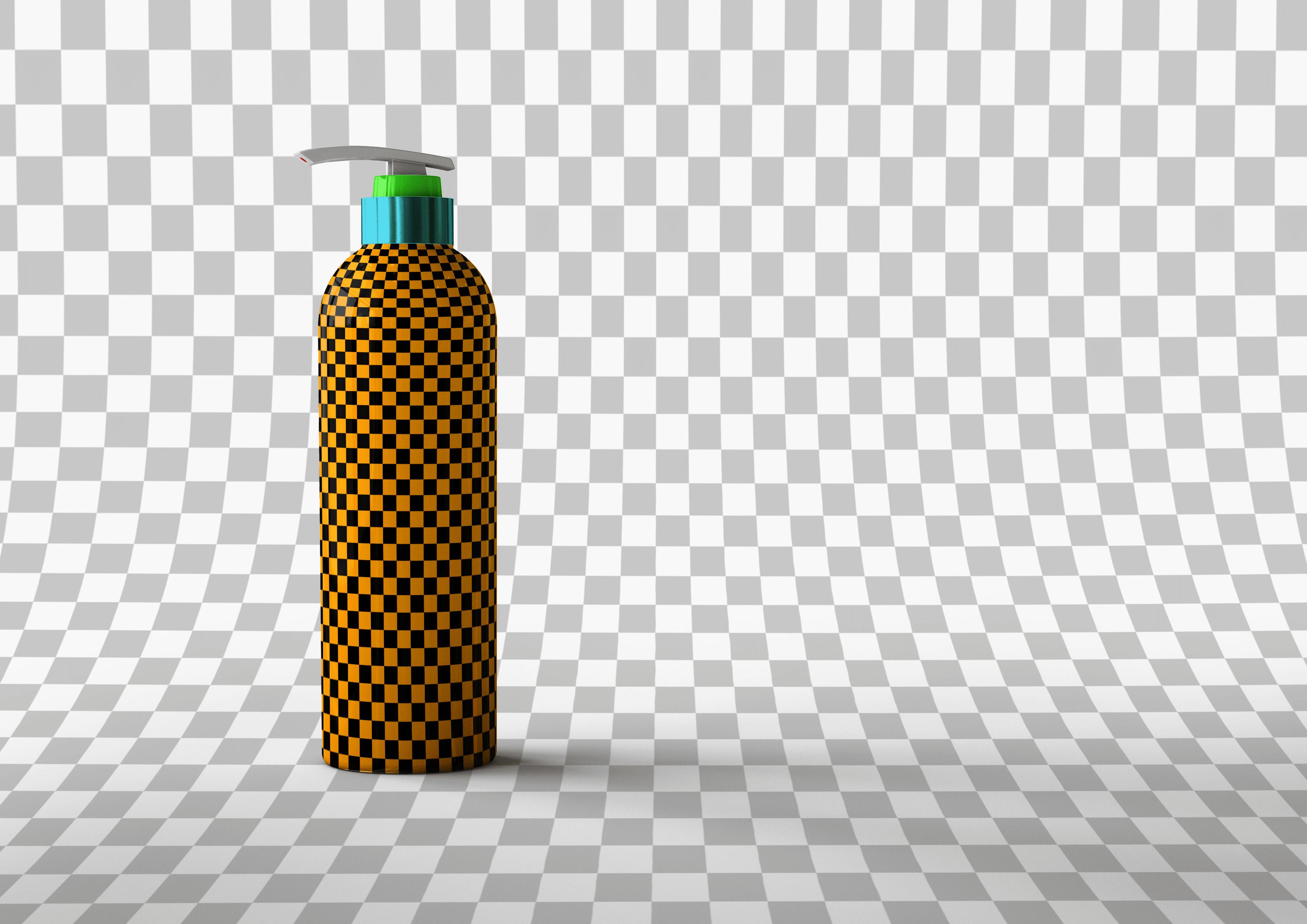 Мокап бутылки с дозатором. shampoo bottle mockup