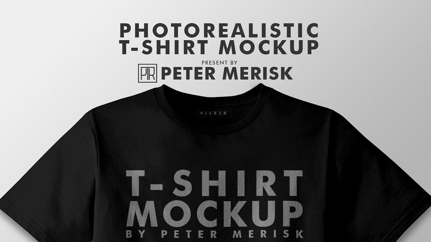 PSD мокап футболки