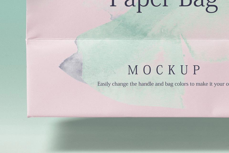 Мокап пакета и визитки. paper shopping bag mockup