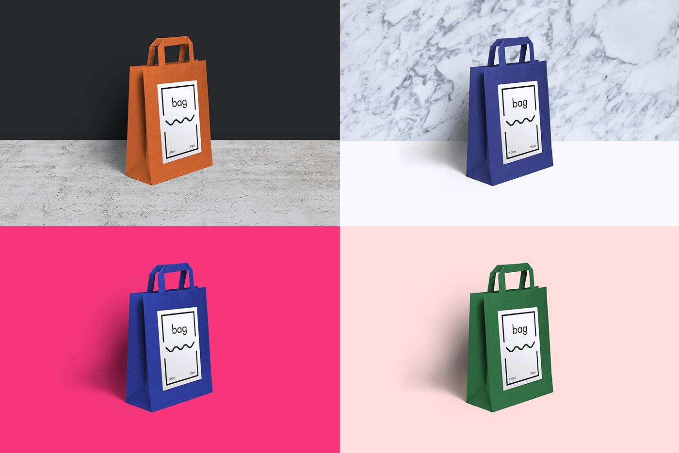 мокап пакета. paper bag mockup
