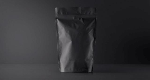 Мокап упаковки чая, кофе. paper pouch packaging mockup