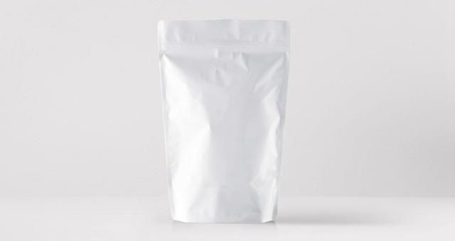 Мокап бумажной упаковки чая, кофе. paper pouch packaging mockup