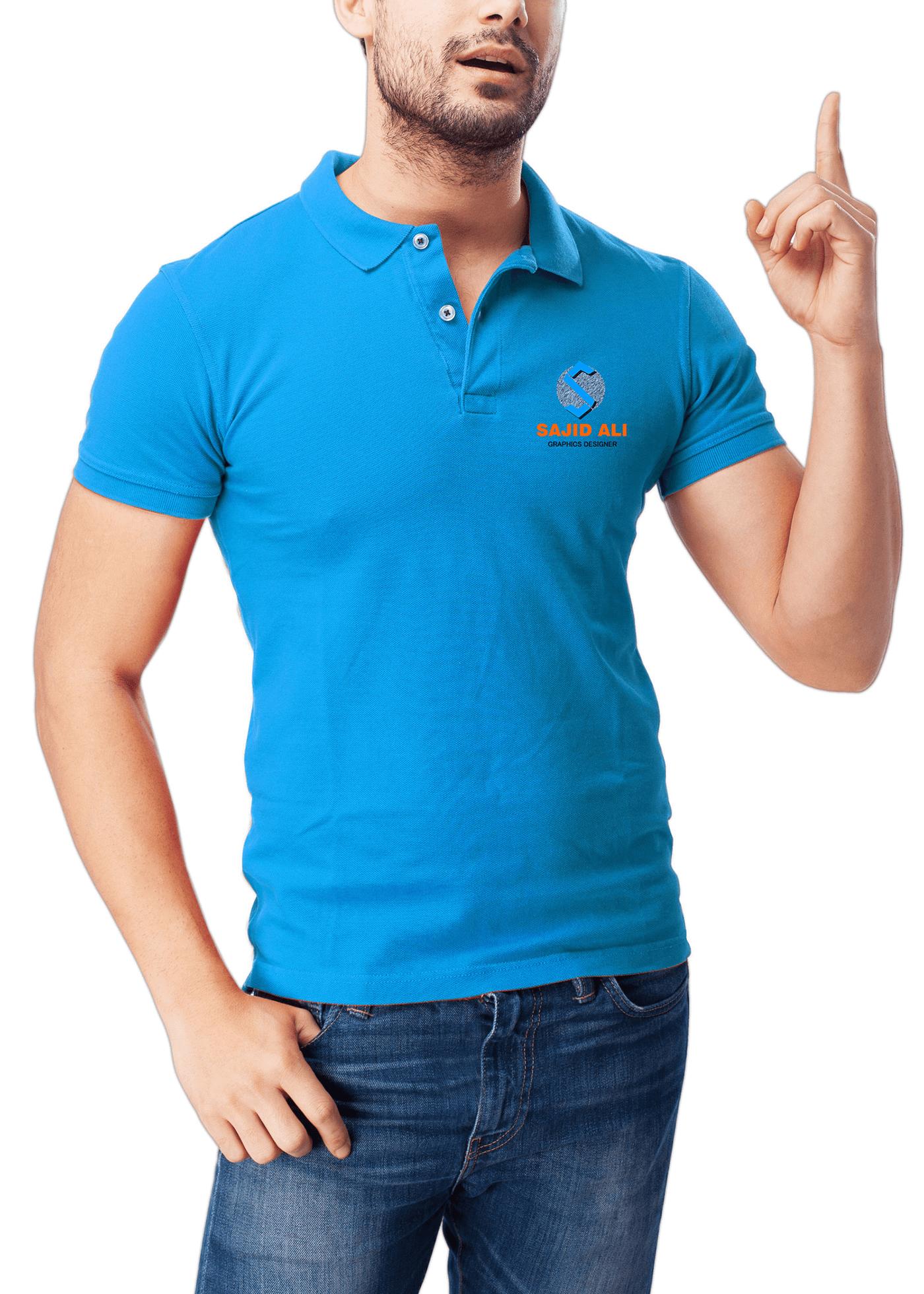 мокап мужского поло. set of polo shirt mockups