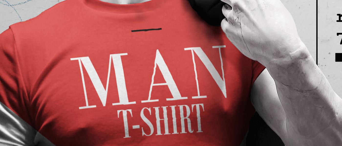 макет мужской футболки. man t-shirt mockup