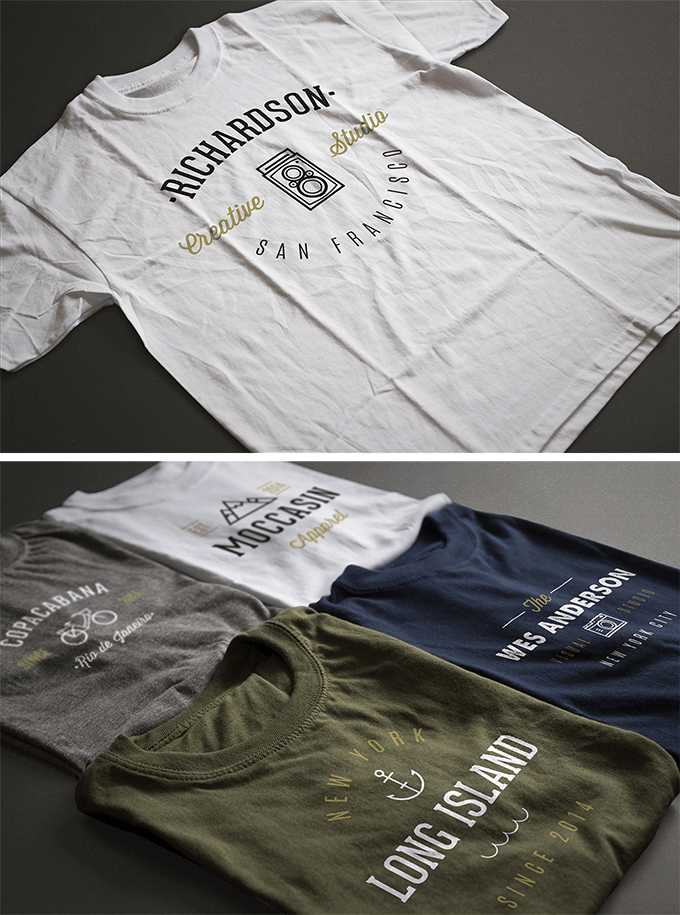фотореалистичные мокапы футболок. t-shirt mockups