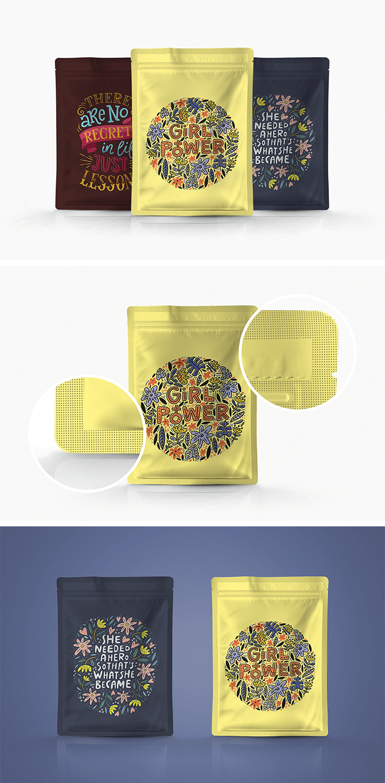 Мокап пакета с зип-замком. pouch packaging mockup