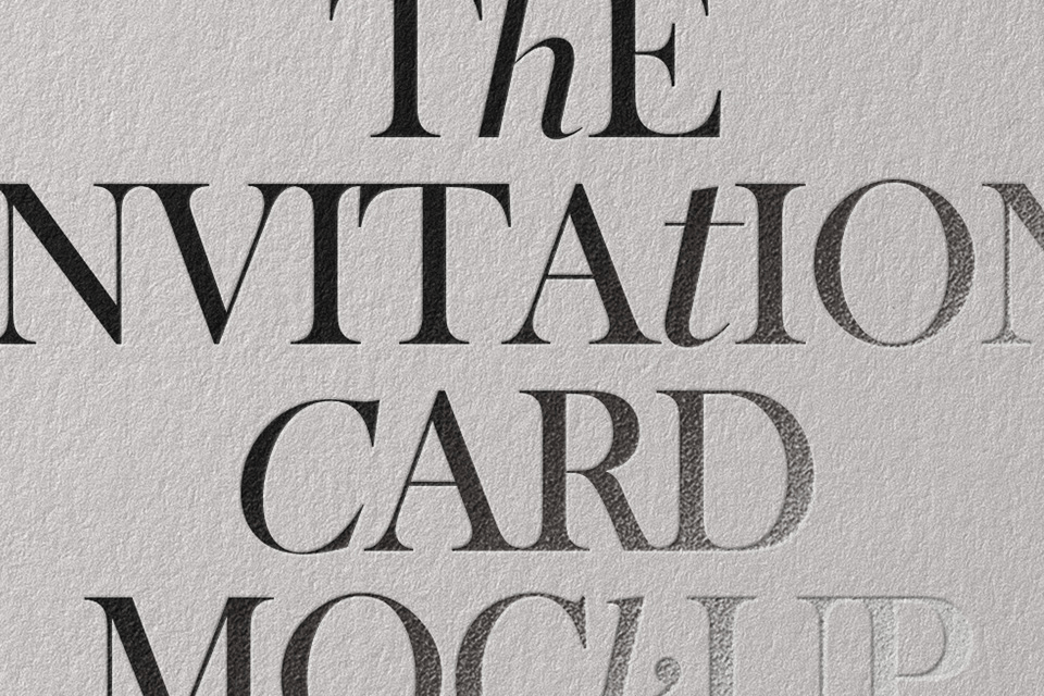 мокап карточки. invitation card mockup