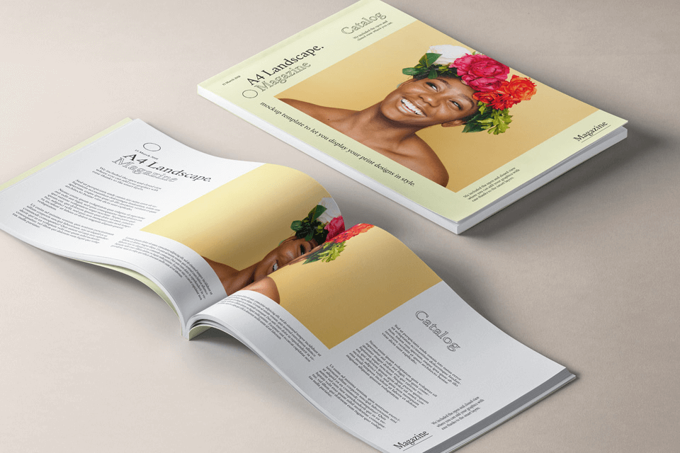 PSD мокап журнала А4. magazine mockup