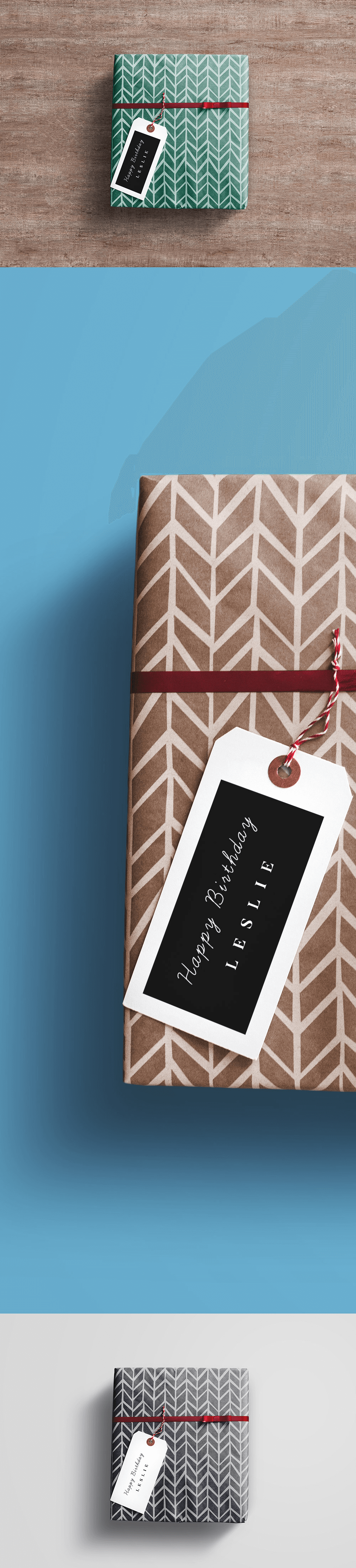 Мокап подарочных коробок. gift box