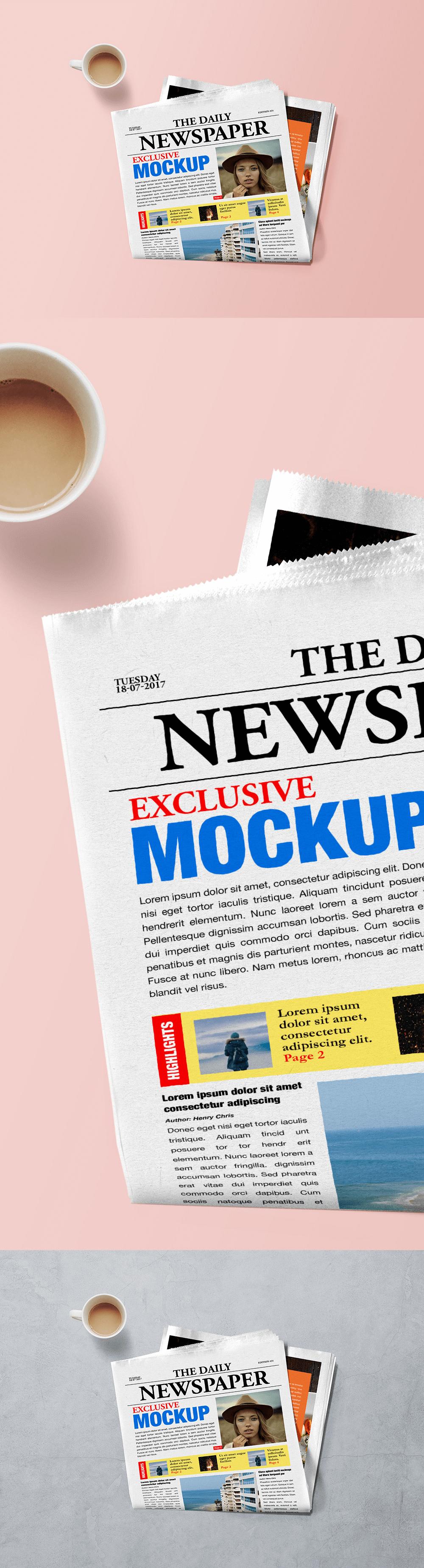 макет газеты. newspaper mockup