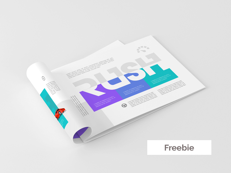 PSD макет альбома А4. brochure mockup