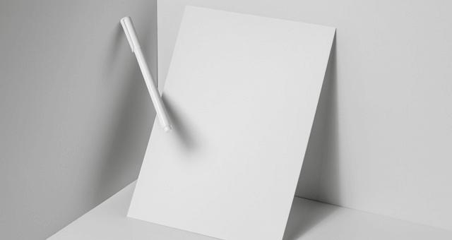 Мокап картонного листа А4. paper brand mockup