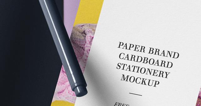 Мокап листа картона А4. paper brand mockup