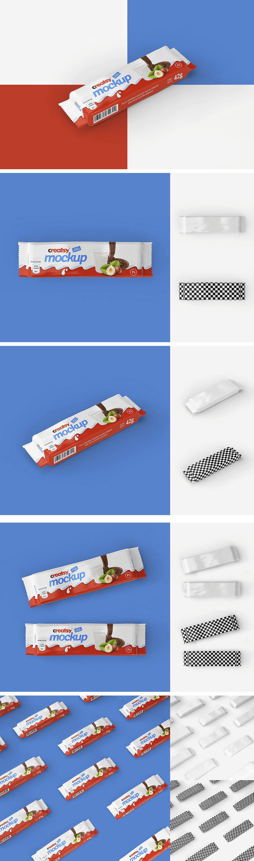 Mockup шоколада. bar package mockup