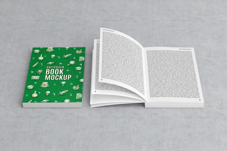 Мокап книги в открытом и в закрытом виде