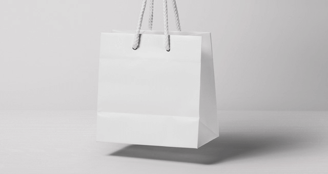 PSD макет бумажного пакета
