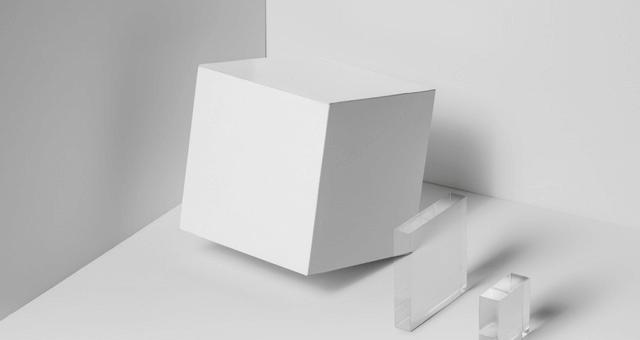 PSD макет квадратной коробки