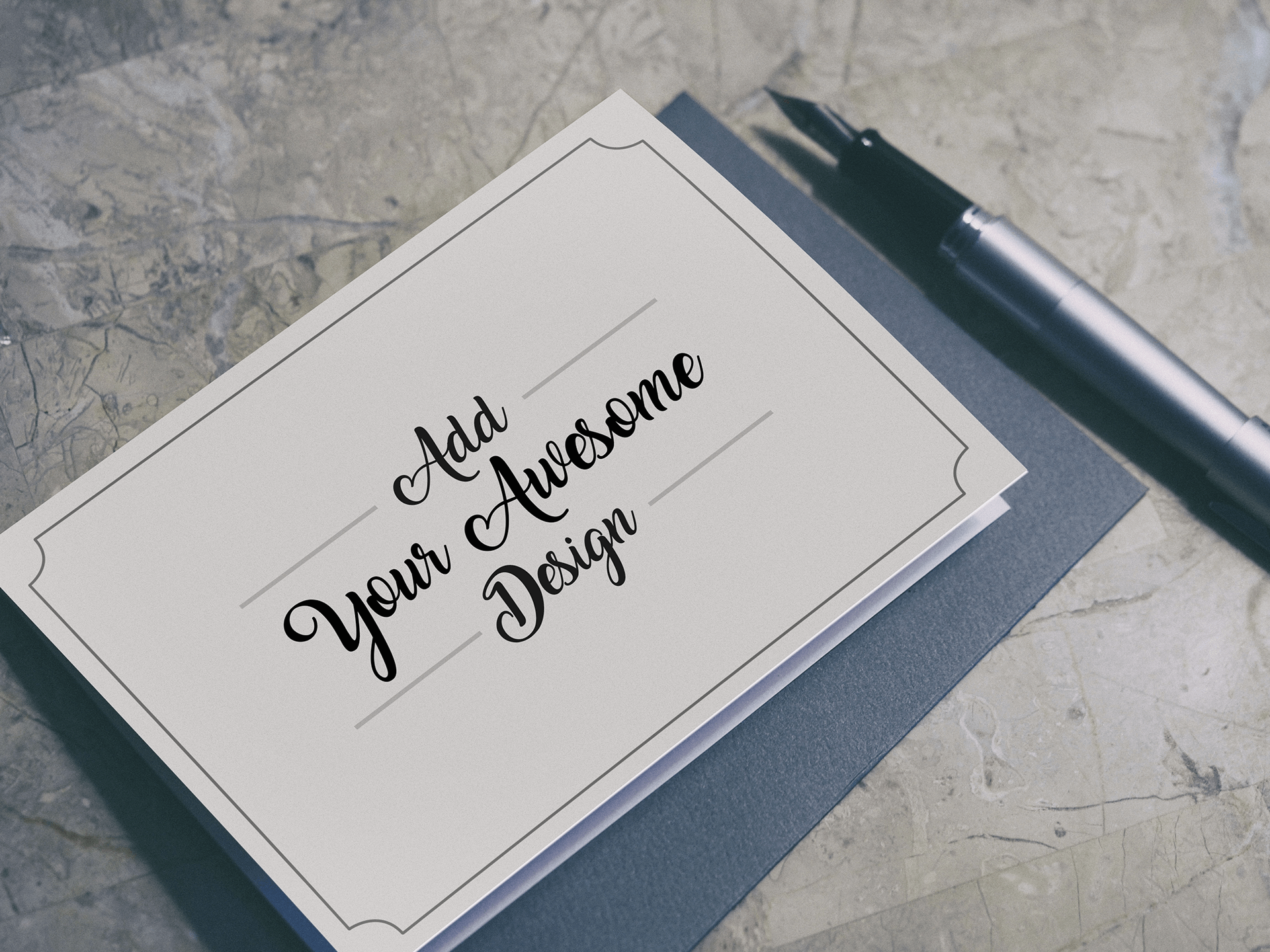 PSD мокап визиток