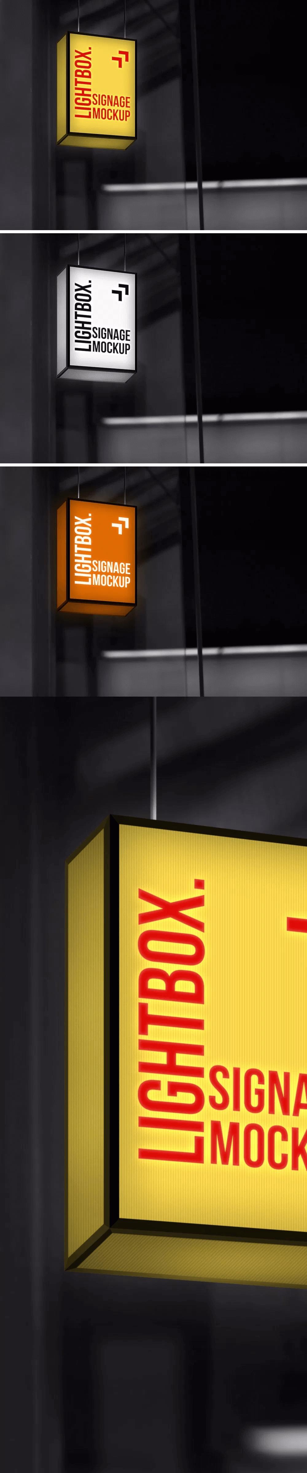PSD Mockup Lightbox