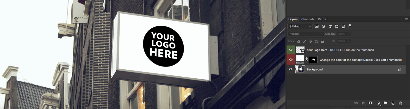 PSD мокап вывесок для кафе и ресторанов
